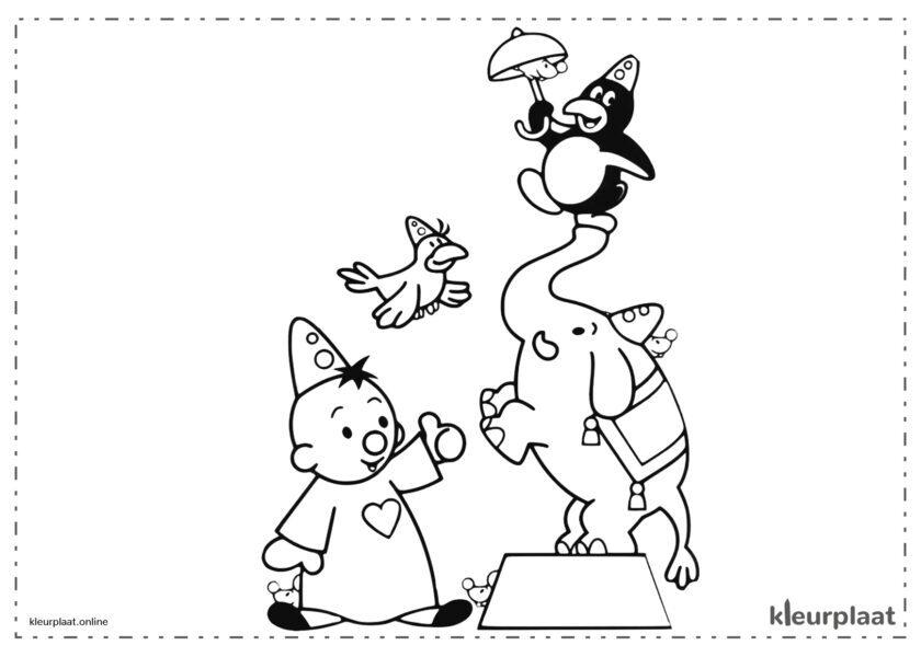 Bumba in het circus met de olifant