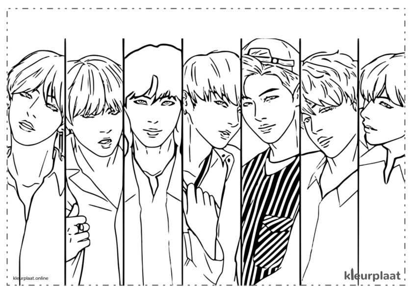 Jim, Suga, J-hope, Rm, Jimin, V, Jungkook
