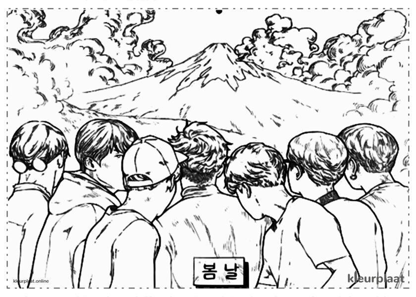 BTS op mount Fuji