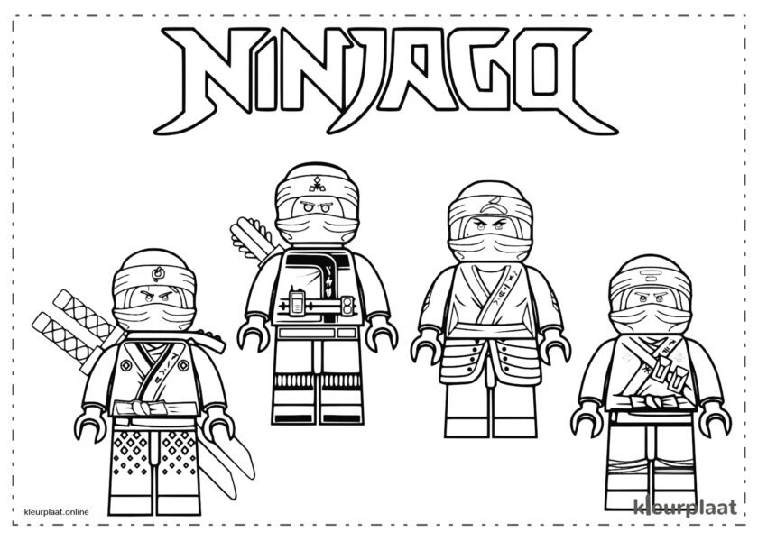 Ninjago kleurplaten