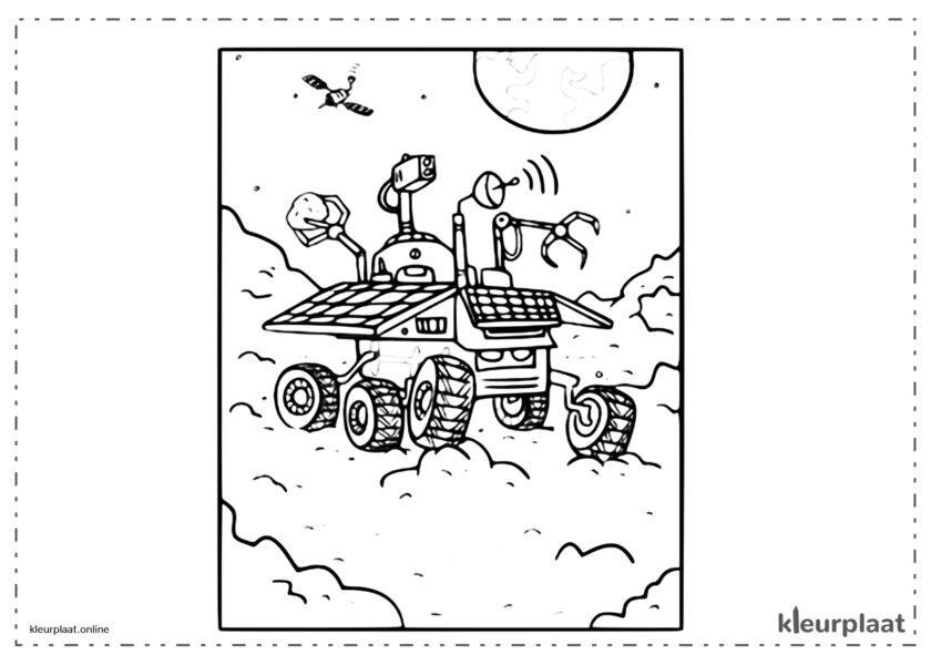 Perseverance ruimteschip op Mars