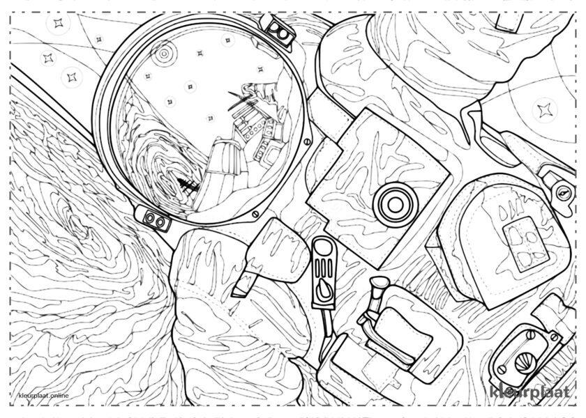 Astronaut op een planeet in de ruimte