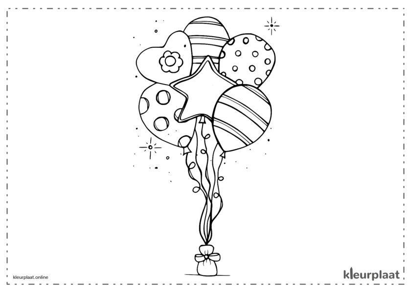 Ballonnen met verschillende vormen sterren en harten