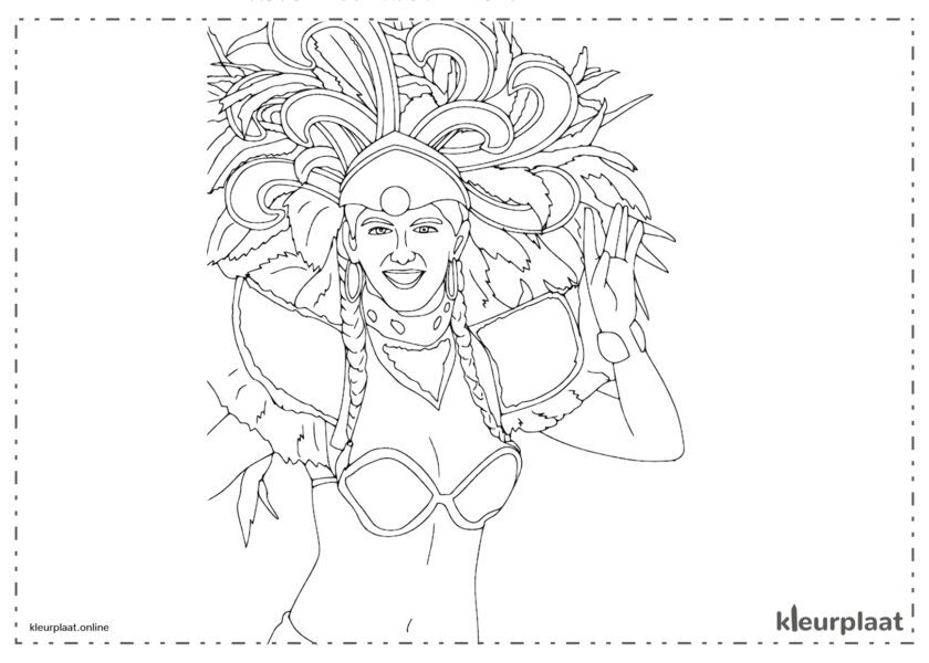 vrouw die zwaait op het carnaval van Rio de Janeiro