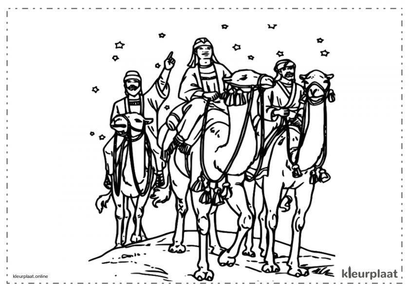 De drie Koningen na de kerstster