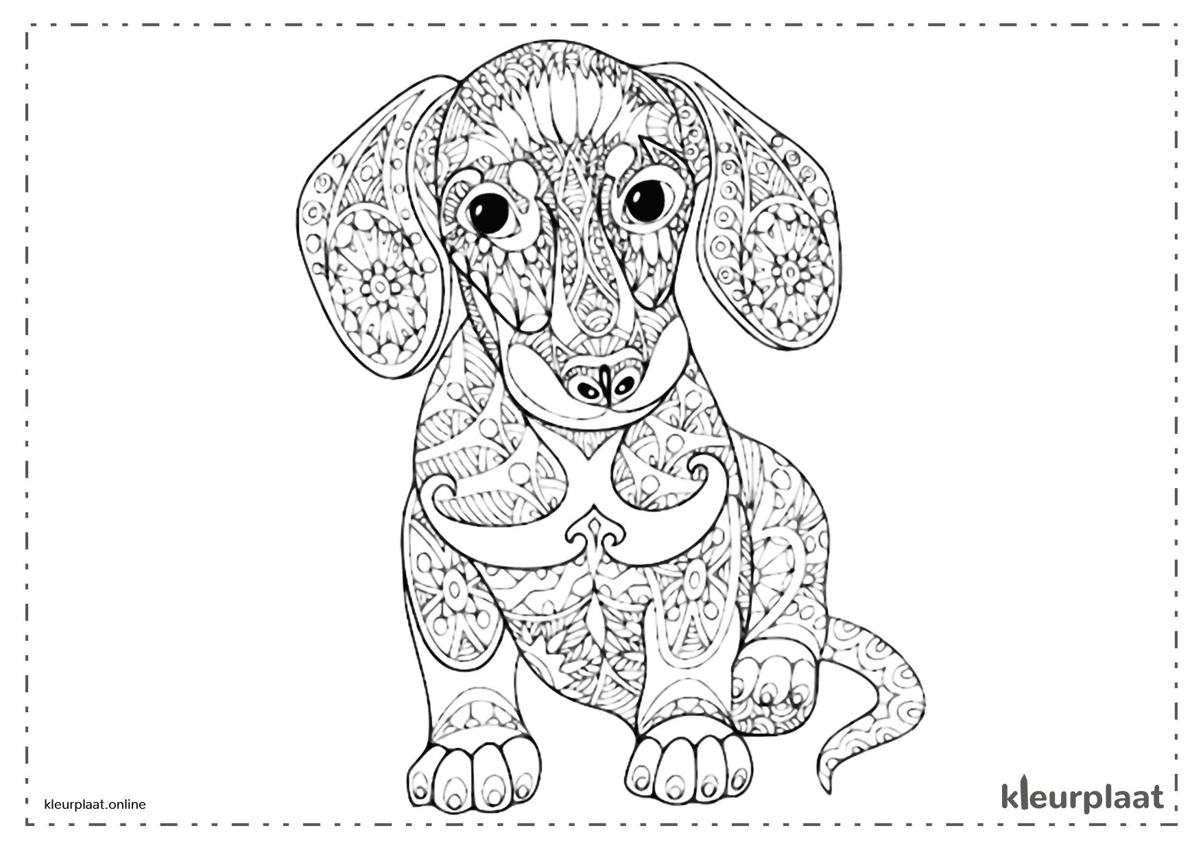 Kleurplaten Van Honden