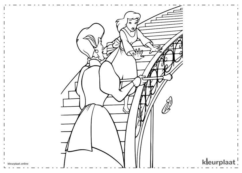 Assepoester de stiefmoeder Lady Tremaine kleurplaten van Cinderella tekeningen