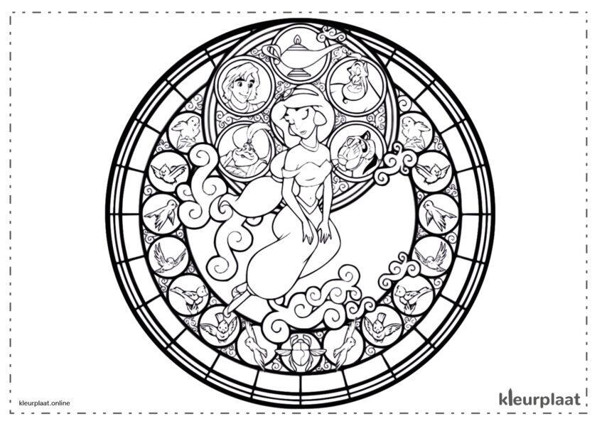 Mandala Jazmin aladin mandala kleurplaat tekenen