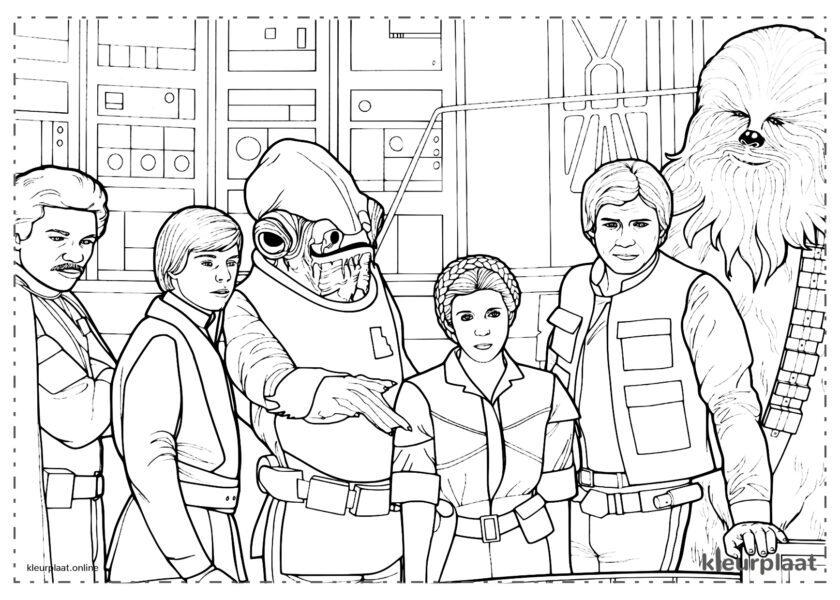 Leia, Luke Skywalker en Han Solo