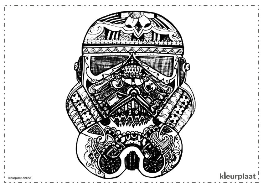 Star wars mandala kleurplaat tekenen