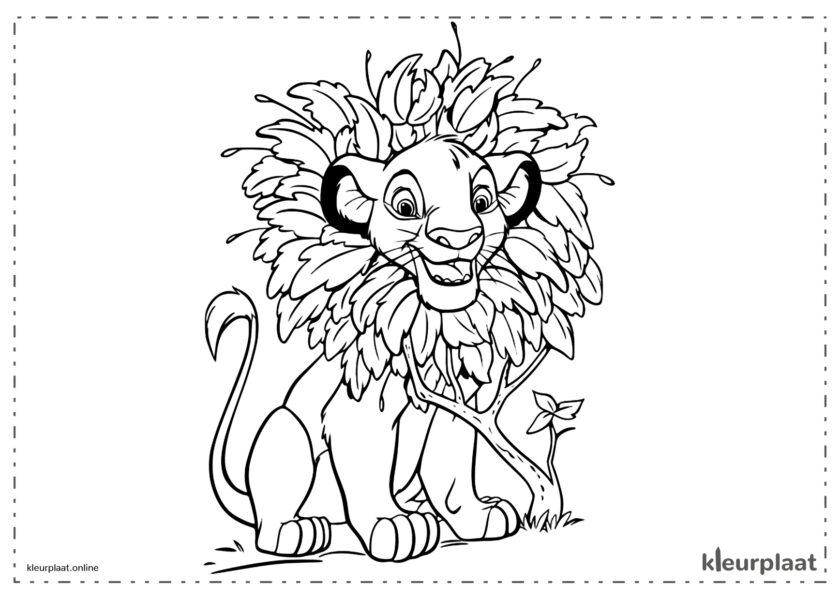 The Lion King Simba toen hij een leeuwenwelpje was kleurplaten van de leeuwenkoning tekeningen