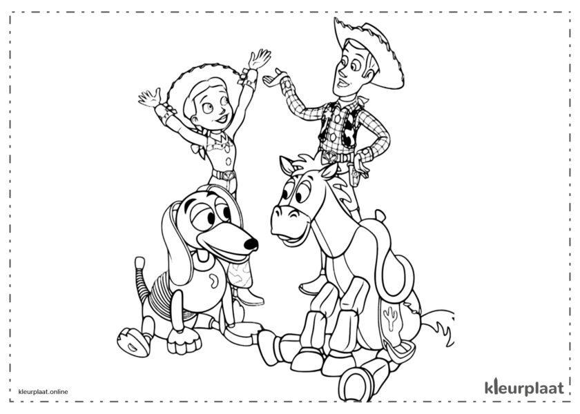 Toy Story 3 Woody met Jessie en Slinky