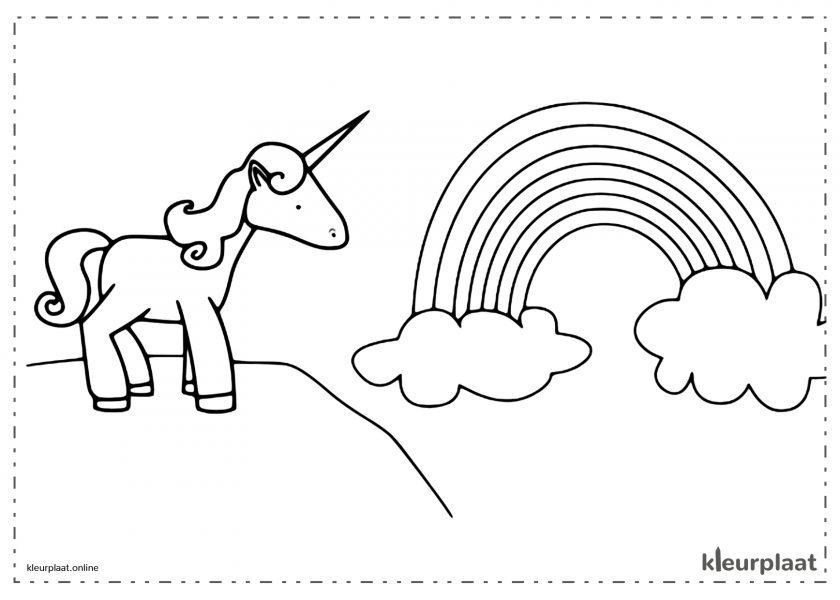 Eenhoorn kijken naar de Regenboog