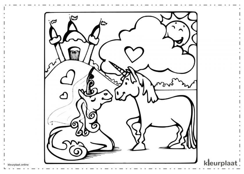Bruiloft van Eenhoorns verliefd