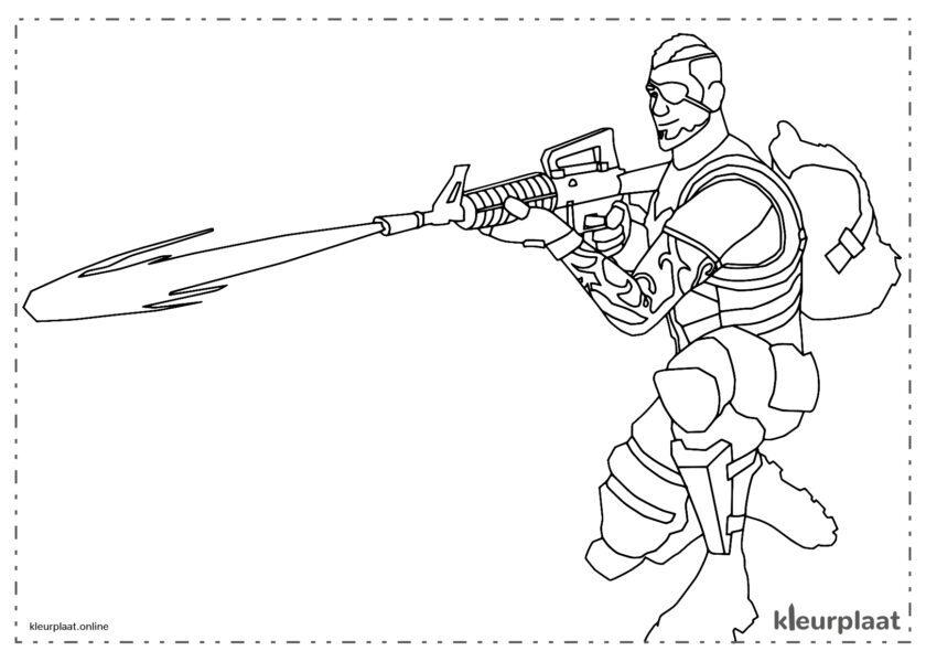 Bravo-leider met vlammenwerper