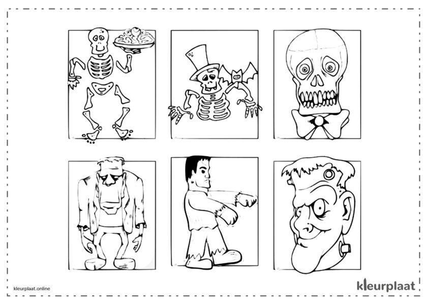 Frankenstein, skelet schedel