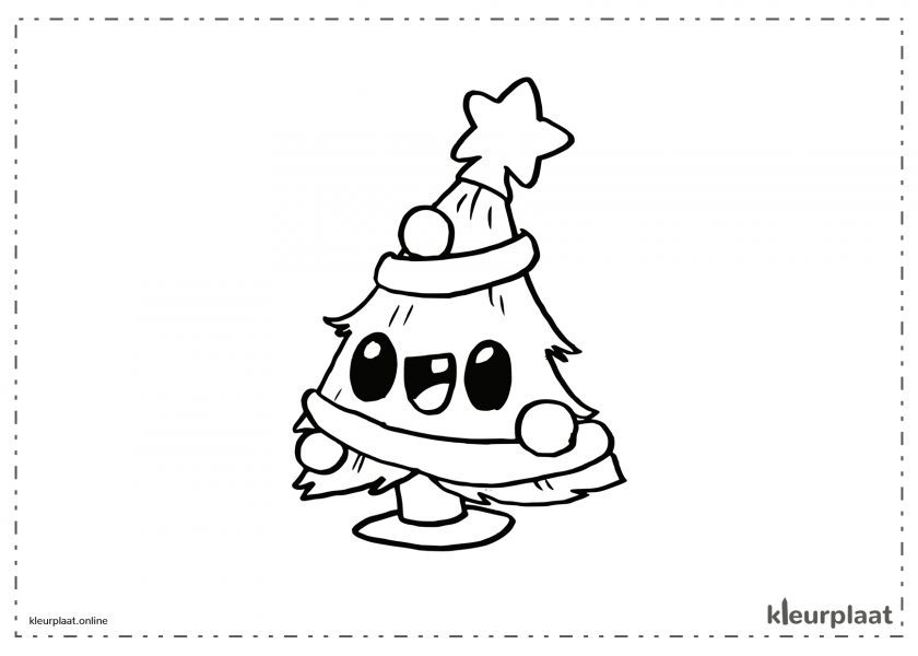 Kerstboom Kawaii