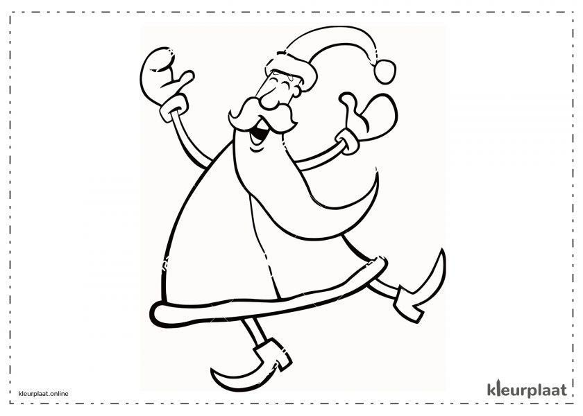 De Kerstman dansende