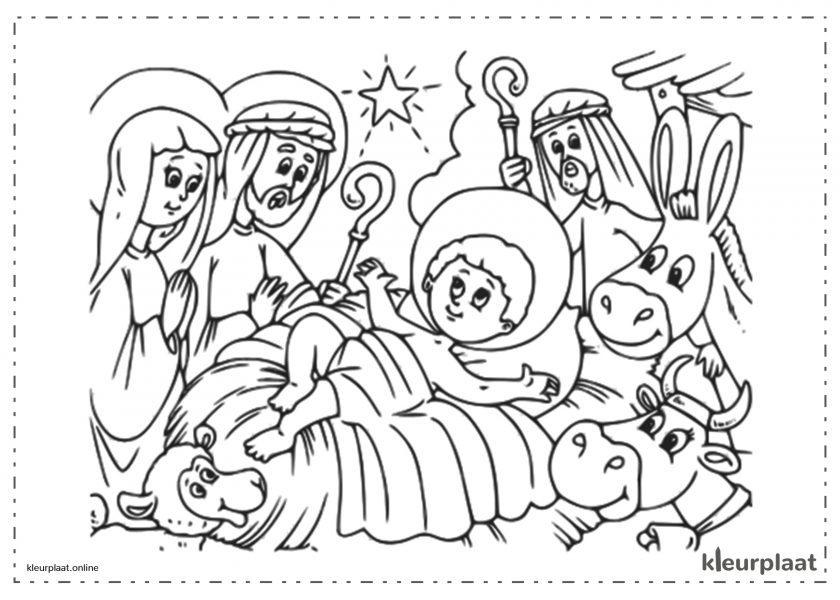 Kerststal baby jezus peuters