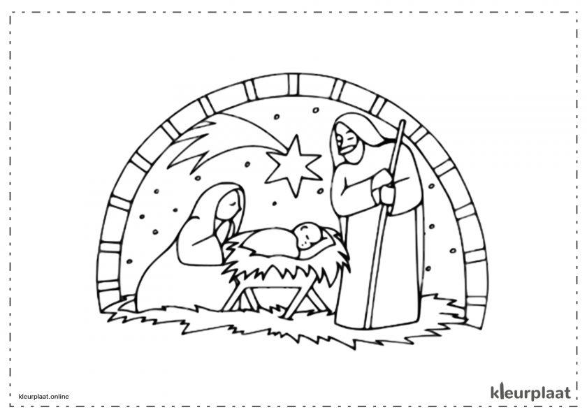Kerststal en Kerstster