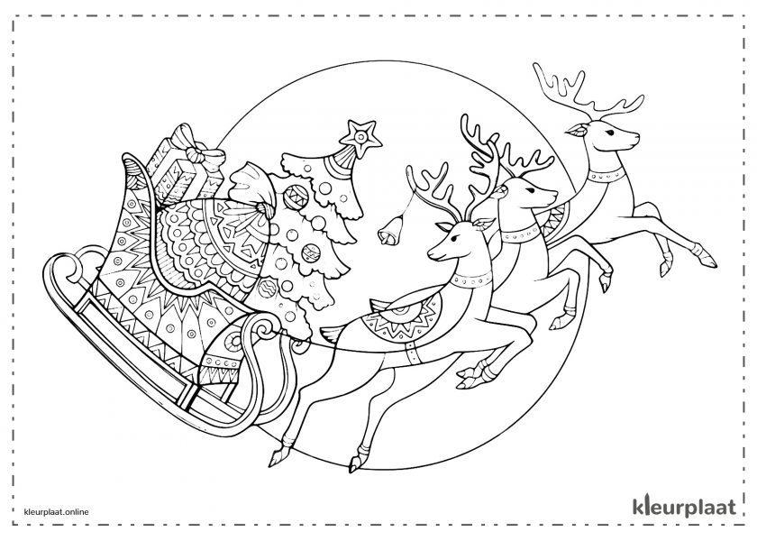 Kerstmannen Rendieren