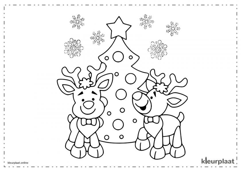 Kerts Rendieren Kerstboom