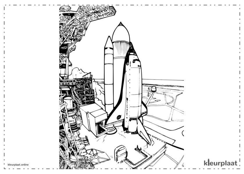 Lancering van een raket in de ruimte vanaf cape canaveral