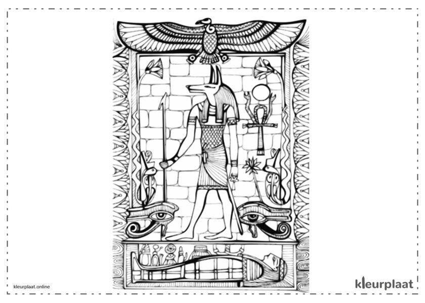 Egyptische god Anubis