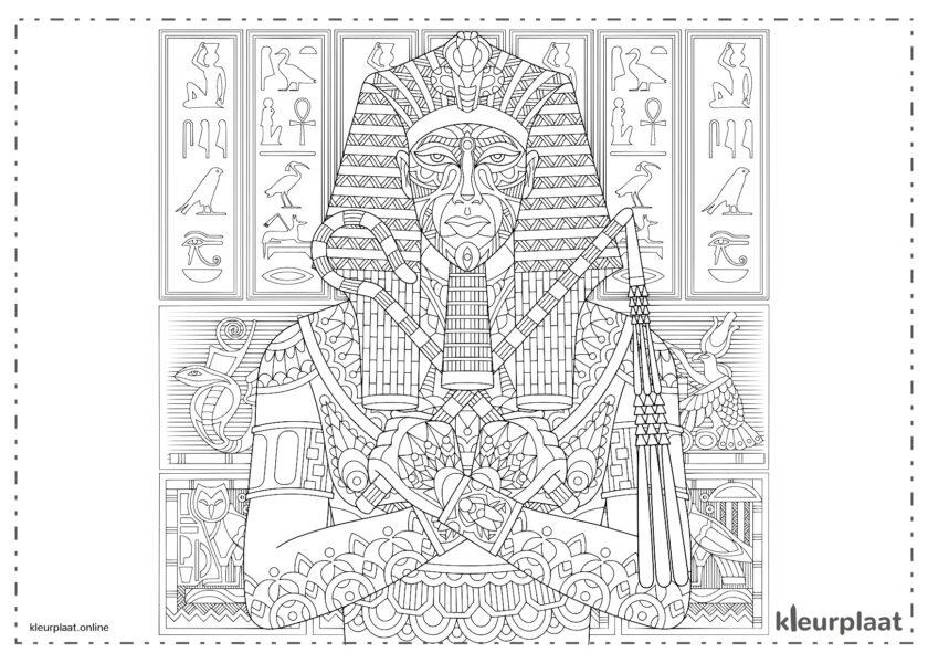 Egyptische mandala met hiërogliefen