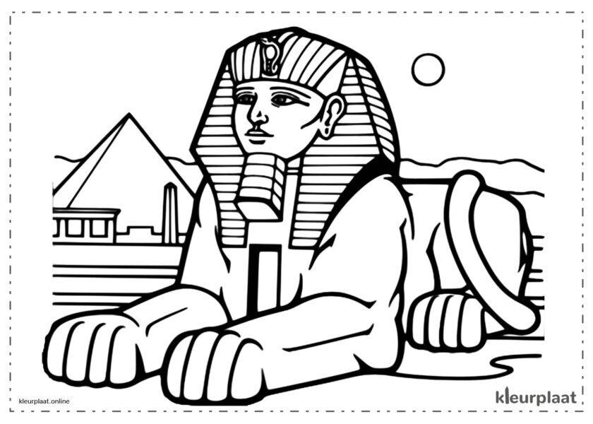 De egyptische sfinx hoofd van een mens lichaam van een leeuw