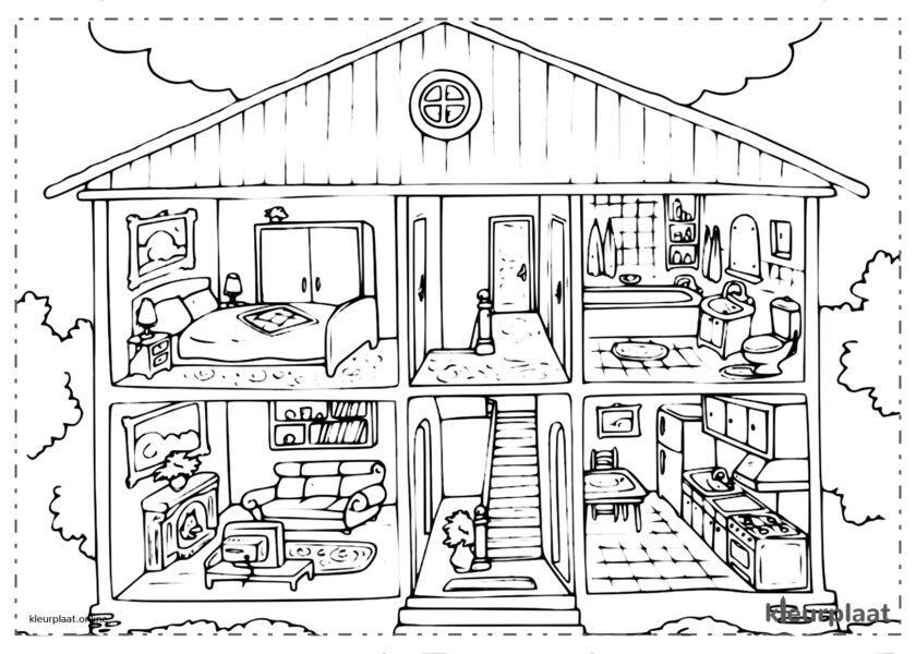 Huis met zijn kamers