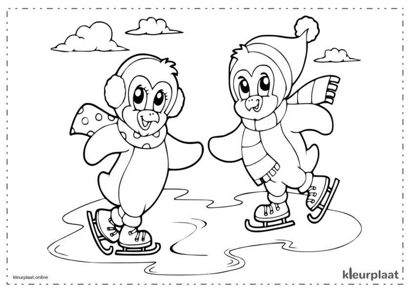 Pinguïns schaatsen