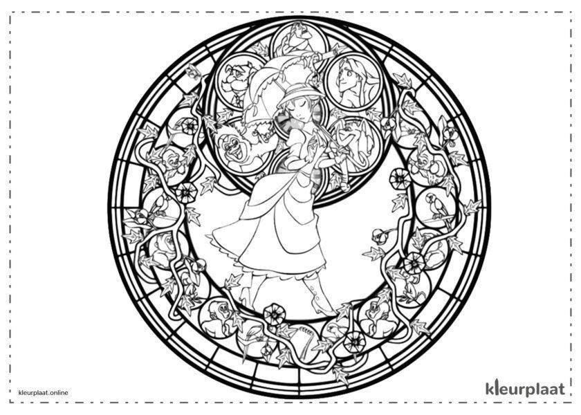 Jane tarzan kleurplaat mandala tekenen
