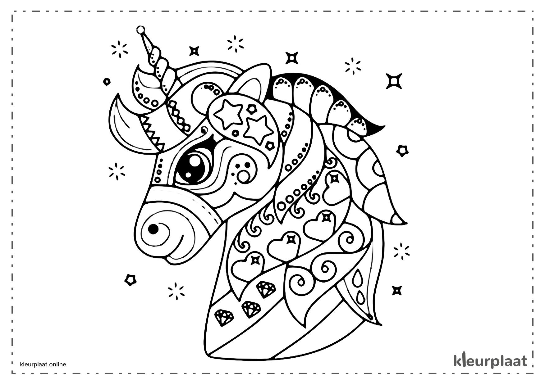 Kleurplaat Eenhoorns