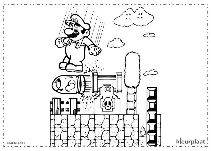 Mario Bros pomp en leidingen