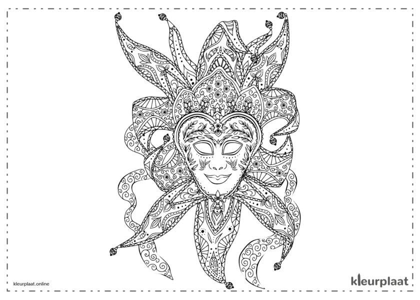 Nar carnaval masker mandala
