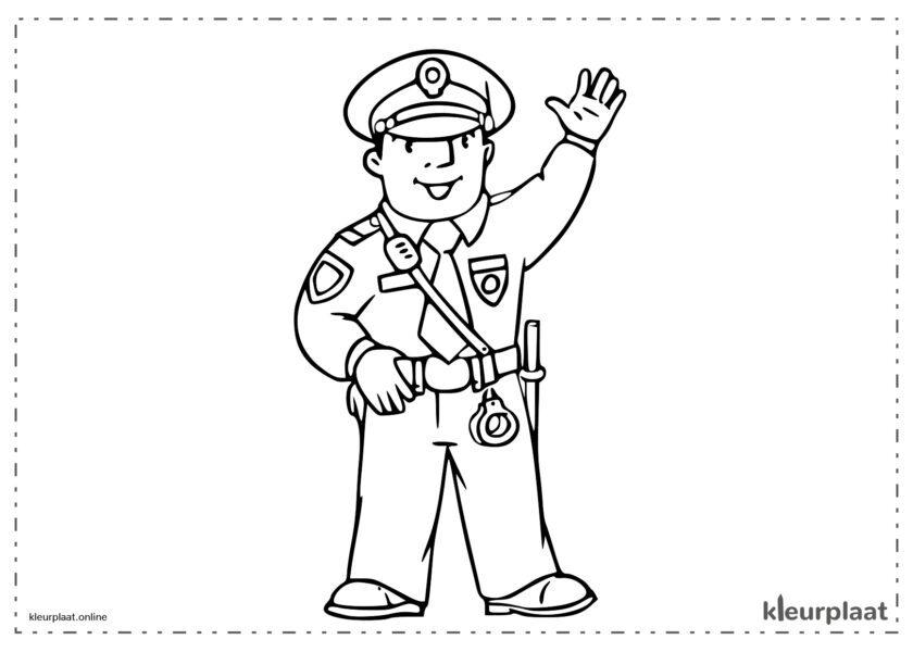 Politie die misdadigers vangt en veiligheid biedt aan de burgers