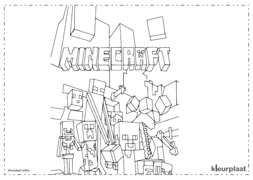 Omslag van minecraft
