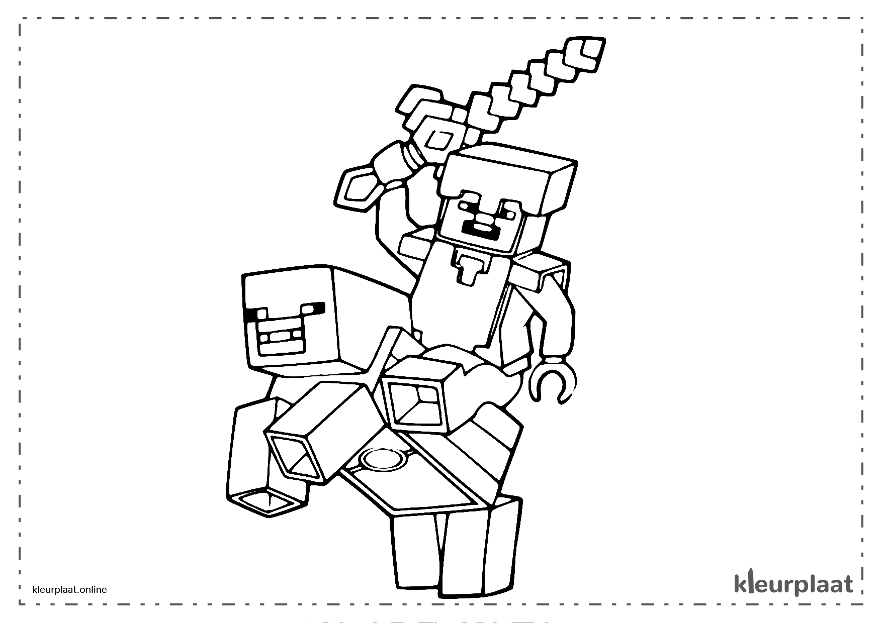 Minecraft Kleurplaat Hond