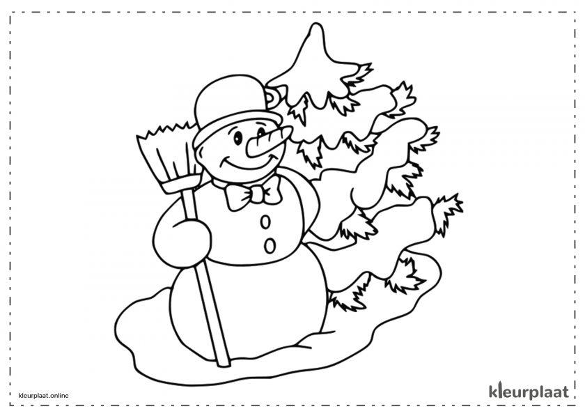 Sneeuwpop en Kerstboom
