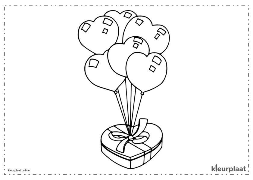 Ballonnen en chocolaatjes is het perfecte cadeau voor Valentijnsdag