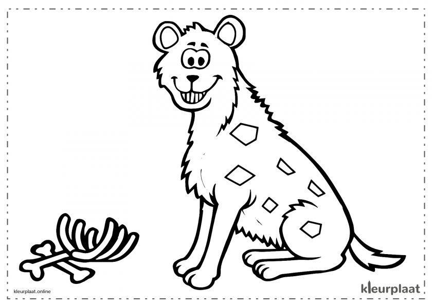 Vriendelijke hyena etende aas