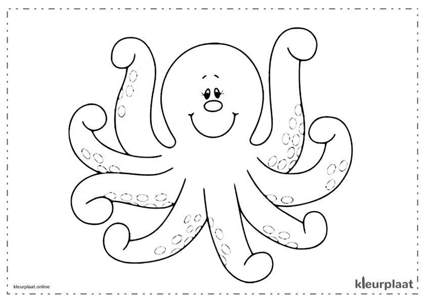Vriendelijke lachende octopus